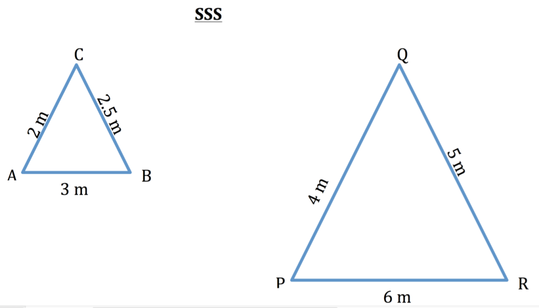 Similar triangles SSS