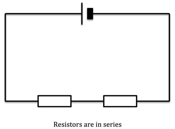 resistors are in series